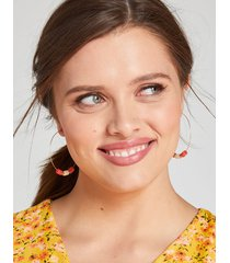 lane bryant women's beaded wire hoop earrings onesz baked apple