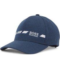 boss men's cap-line melange logo cap