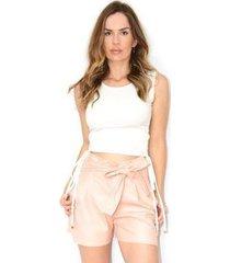 blusa cz brand canelada ajustável feminina - feminino
