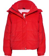 puffer jacket gevoerd jack rood lee jeans