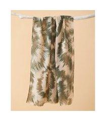 lenço estampado - lenço madison cor: verde - tamanho: único