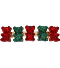 betsey johnson festive gummy bear hair clip
