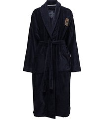 lexington velour robe ochtendjas badjas blauw lexington home