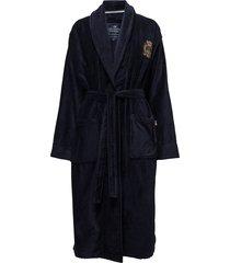 lexington velour robe lingerie bathroom robes blauw lexington home