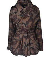 miu miu camo print wrapped effect jacket