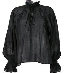 karen walker basalt voile blouse - black