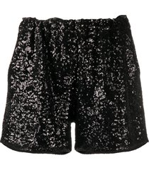 in the mood for love rosana sequined tulle shorts - black