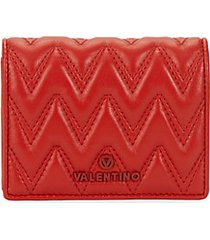 nero sauvage chevron leather snap wallet
