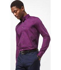 mk camicia slim-fit in cotone stretch - vino (rosso) - michael kors