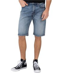 men's medium indigo wash loose fit shorts
