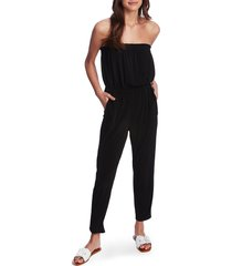 women's 1.state strapless knit jumpsuit, size x-large - black