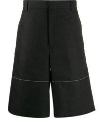 jil sander wide-leg bermuda shorts - black