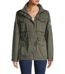 dkny women's logo cotton jacket - juniper - size l