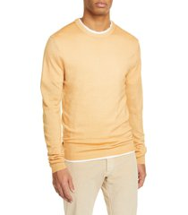 men's boglioli trim fit wool crewneck sweater