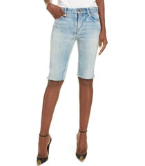women's saint laurent denim bermuda shorts, size 24 - blue
