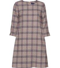 d1. washable str wool a-line dress dresses everyday dresses multi/mönstrad gant