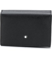 montblanc sartorial business tri-fold wallet - black