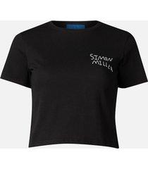 simon miller women's rondo logo t-shirt - black - m