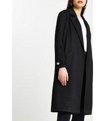 river island womens black jersey longline duster jacket