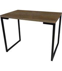 mesa para computador escrivaninha porto 90cm castanho - fit mobel - castanho - dafiti