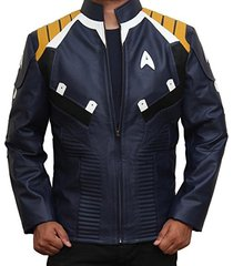 blue star trek beyond chris pine caption kirk jacket leather jacket motorbiker j