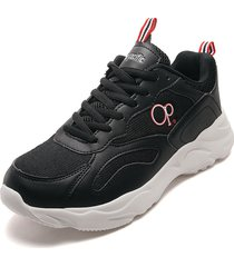 tenis lifestyle negro-blanco ocean pacific cansor-h2