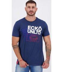 camiseta ecko reputation azul.