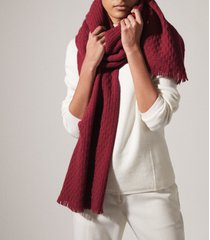 reiss aimee - oversized textured scarf in cherry, womens