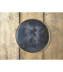 ceramiczny talerz obiadowy galaxy