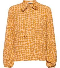 nuballou blouse blus långärmad gul nümph