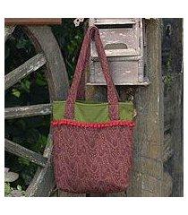 cotton tote bag, 'cinnammon versatility' (thailand)