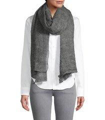 saachi women's textured scarf - grey