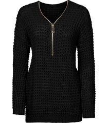maglione con cerniera (nero) - bodyflirt