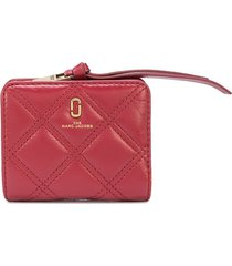 marc jacobs the quilted softshot mini compact wallet - red