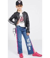 jeansy z szeroką nogawką