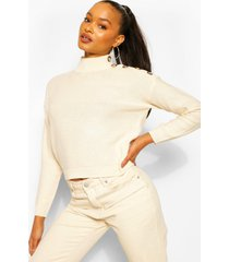 button shoulder detail sweater, stone