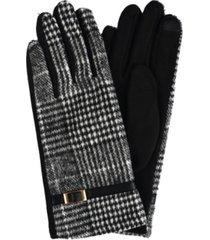 women's plaid jersey touchscreen glove