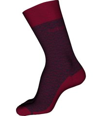 men's boss geo pattern crew socks, size one size - red