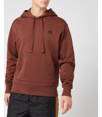 acne studios men's ferris face hoodie - dark brown - xl