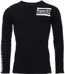 superdry international monochrome long sleeve t-shirt