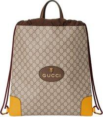 gucci mochila gg supreme com amarração - neutro