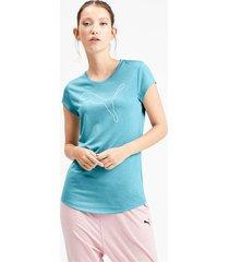 gemêleerd sportief t-shirt voor dames, blauw, maat l | puma