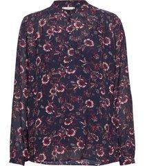 amia pop over ls blouse blus långärmad svart tommy hilfiger