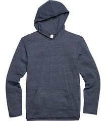 alternative apparel men's charcoal eco jersey hoodie pullover navy - size: 3x