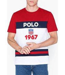 polo ralph lauren jersey t-shirt t-shirts & linnen red
