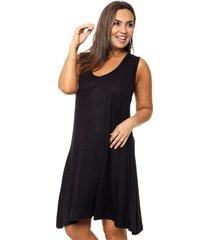 vestido negro minari sileana plus size