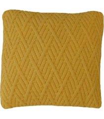 capa almofada tricot 45x45cm c/zãper sofa trico cod 1025 amarelo - amarelo - feminino - dafiti
