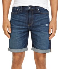 calvin klein jeans men's straight miami rain jean shorts