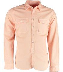 bos bright blue pascal denim shirt 21107pa20sc/750 salmon