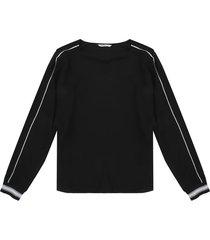 blusa negro-blanco esprit